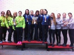 Podio del Campeonato de España Femenino 2016