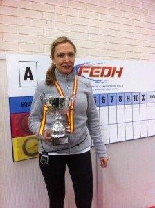 Beatriz Cureses, medalla de bronce en el Campeonato de España Femenino 2016
